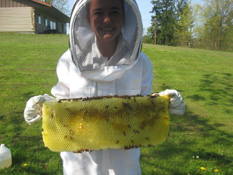 LCBA Youth Scholarship 2015 Student Jana Girt and bees