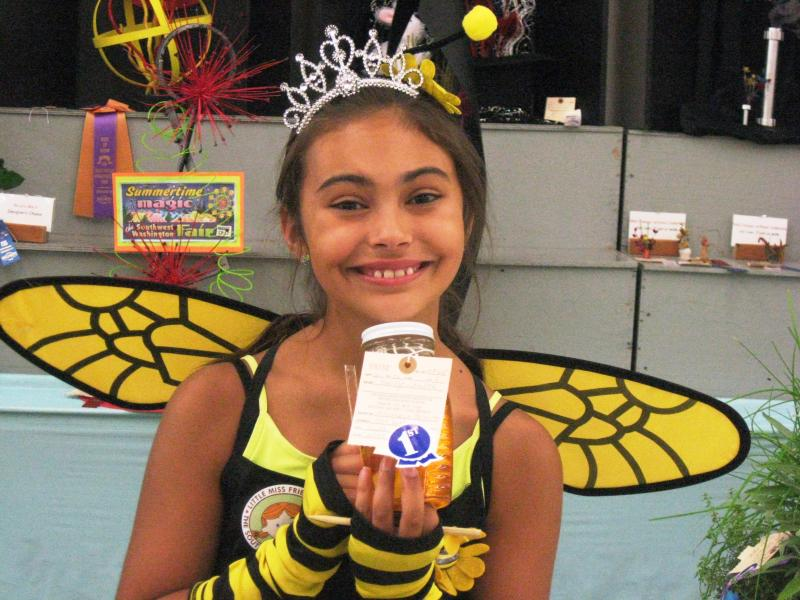 Michaela and her first year honey