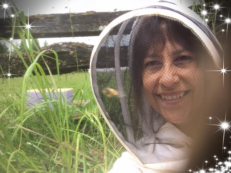 Terrie Phillips and her bees